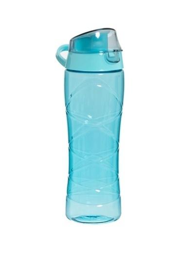 Herevin Gravürlü Turkuaz Plastik Matara 650 ml Turkuaz